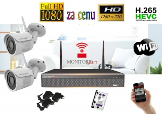 Monitorrs Security Wifi IP kamerový set Full HD 1080p 2xkamera  (6513K2)