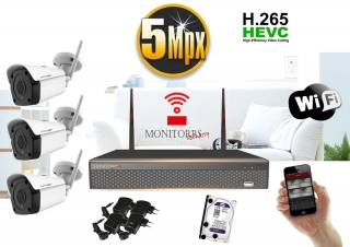 Monitorrs Security Wifi IP kamerový set 5MPix 3xkamera  (6183K3)