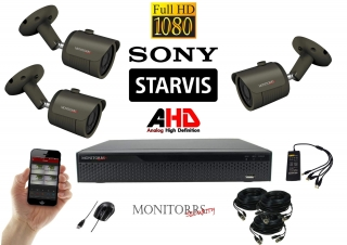 Monitorrs Security AHD STARVIS 3 kamerový set 2 Mpix GTube (6165K3)