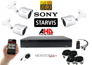 Monitorrs Security AHD STARVIS 3 kamerový set 2 Mpix WTube(6287K3)