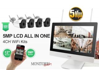 Monitorrs Security Wifi IP kamerový set All In One 5MPix (6190M5)