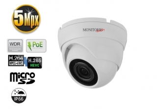 Monitorrs Security IP kamera 5 Mpix WDome s Mikrofonem (6292A)